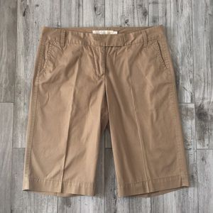 J. Crew Broken In Chino Brown Bermuda Shorts SZ 6